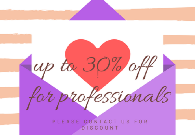 up to 30 discount for professionals